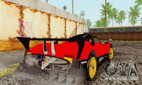 Pagani Zonda Type R Red for GTA San Andreas right view