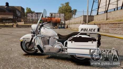 GTA V Western Motorcycle Police Bike for GTA 4 left view