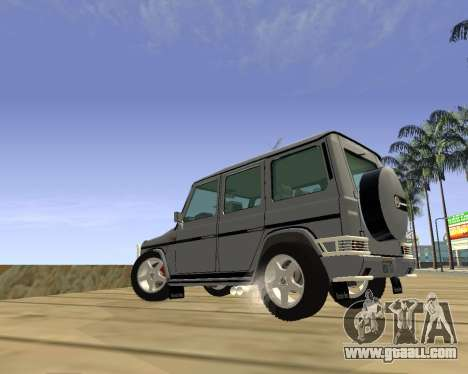 Mercedes-Benz G500 Brabus for GTA San Andreas back left view