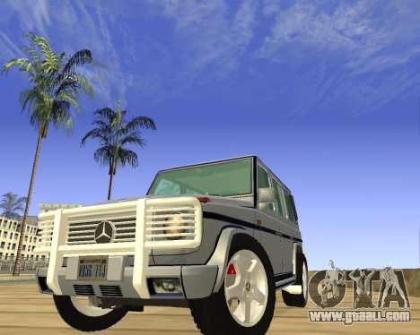 Mercedes-Benz G500 Brabus for GTA San Andreas back view