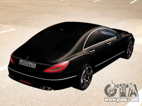 Mercedes-Benz CLS350 2012 for GTA San Andreas back view