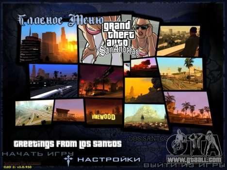 HD menus V.2.0 for GTA San Andreas