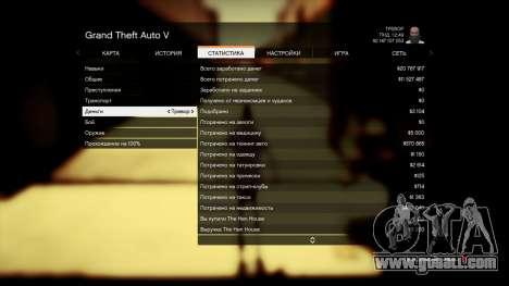 GTA 5 Save GTA 5 100% and 1 billion Xbox 360 fifth screenshot