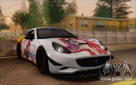 Ferrari California v2 for GTA San Andreas side view