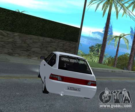 ВАЗ 2112 GVR Version 1.1 for GTA San Andreas back left view