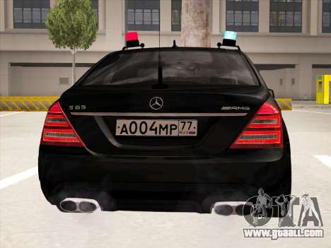 Mercedes-Benz S65 AMG 2012 for GTA San Andreas back view