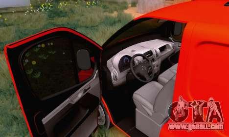 Opel Vivaro for GTA San Andreas inner view