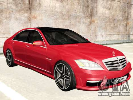 Mercedes-Benz S65 AMG 2012 for GTA San Andreas bottom view
