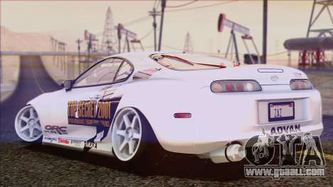 Toyota Supra 1998 Top Secret for GTA San Andreas bottom view