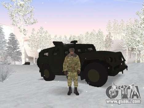 Pak Russian army service for GTA San Andreas third screenshot