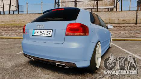 Audi S3 EmreAKIN Edition for GTA 4 back left view