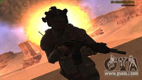 Sgt Keegan P.Russ из Call Of Duty: Ghosts for GTA San Andreas second screenshot