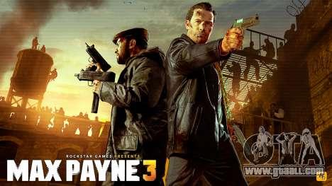 Boot screens Max Payne 3 HD for GTA San Andreas