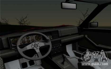 Lancia Delta HF Integrale Evo2 for GTA San Andreas back view
