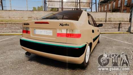 Citroen Xantia for GTA 4 back left view