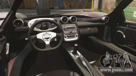 Pagani Zonda C12 S Roadster 2001 PJ5 for GTA 4 inner view
