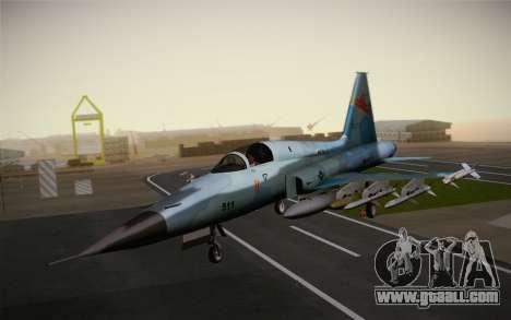 F-5E Tiger II for GTA San Andreas