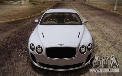 Bentley Continental SuperSports 2010 v2 Finale for GTA San Andreas side view