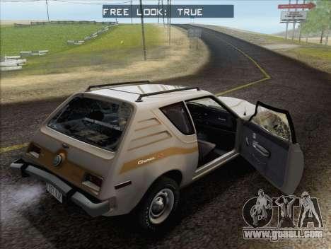 AMC Gremlin X 1973 for GTA San Andreas upper view