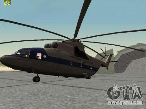 Mi 26 Civil for GTA San Andreas back left view