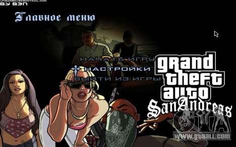 HD menus for GTA San Andreas