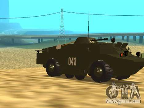 Guards BRDM-2 for GTA San Andreas inner view
