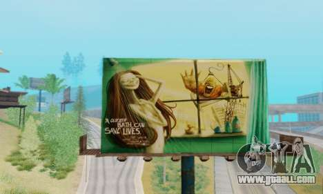 New high-quality advertising on posters for GTA San Andreas fifth screenshot