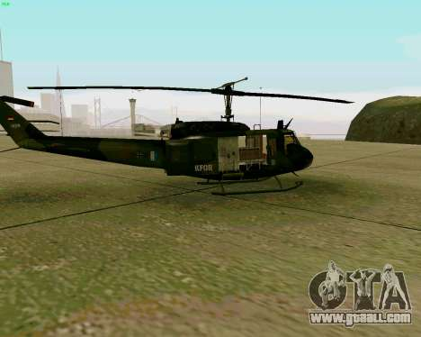 UH-1D Huey for GTA San Andreas back left view