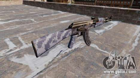 The AK-47 Blue Camo for GTA 4 second screenshot