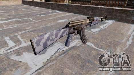 The AK-47 Blue Camo for GTA 4 second screenshot