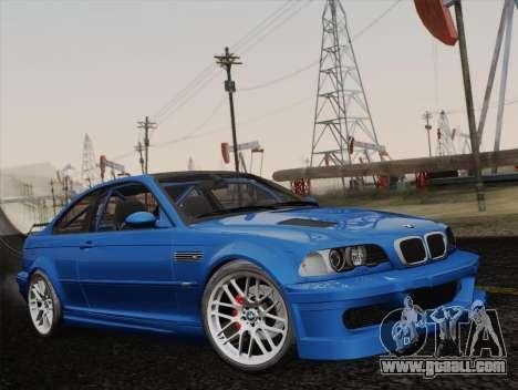 BMW M3 E46 GTR 2005 for GTA San Andreas
