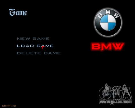 New image menu for GTA San Andreas