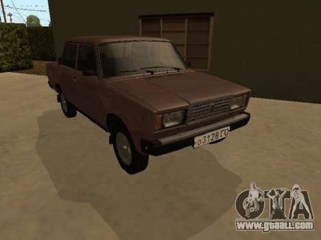 VAZ 2107 Early version for GTA San Andreas back view