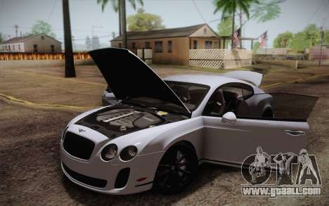 Bentley Continental SuperSports 2010 v2 Finale for GTA San Andreas interior