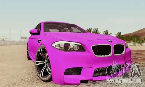 BMW F10 M5 2012 Stock for GTA San Andreas wheels