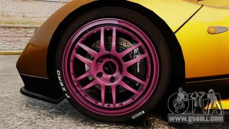 Pagani Zonda C12 S Roadster 2001 PJ2 for GTA 4 back view