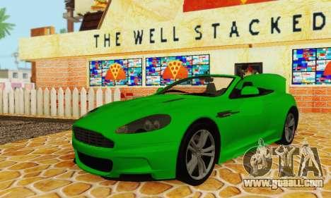 Aston Martin DBS Volante for GTA San Andreas inner view