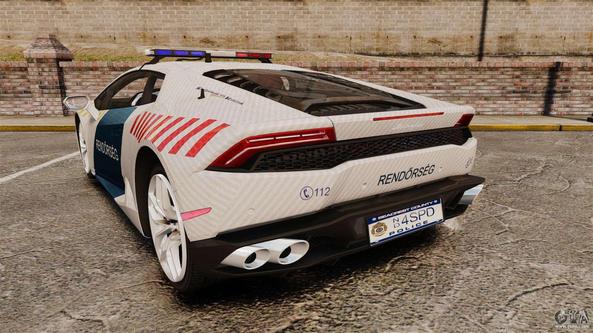 Lamborghini Huracan Hungarian Police Non Els For Gta 4