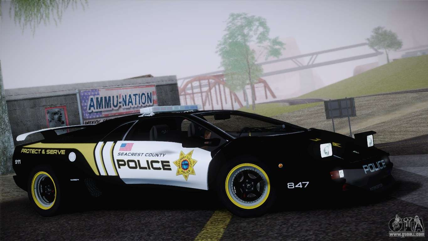 Lamborghini Diablo Sv Nfs Hp Police Car For Gta San Andreas