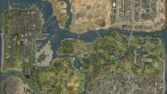The new map in HD for GTA San Andreas