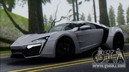 W Motors Lykan Hypersport 2013 for GTA San Andreas