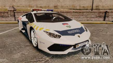 Lamborghini Huracan Hungarian Police [Non-ELS] for GTA 4