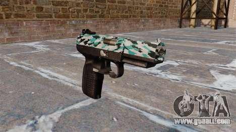 Gun FN Five seveN Aqua Camo for GTA 4