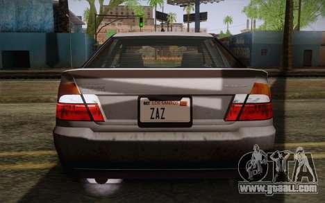 Sultan из GTA 5 for GTA San Andreas upper view