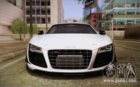 Audi R8 GT 2012 for GTA San Andreas inner view