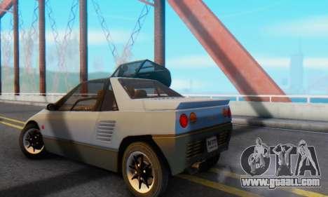 Mazda Autozam AZ-1 for GTA San Andreas right view