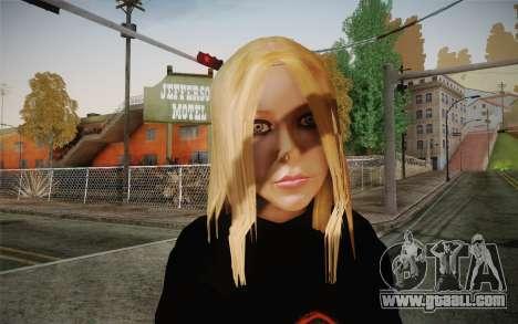 Avril Lavigne for GTA San Andreas third screenshot