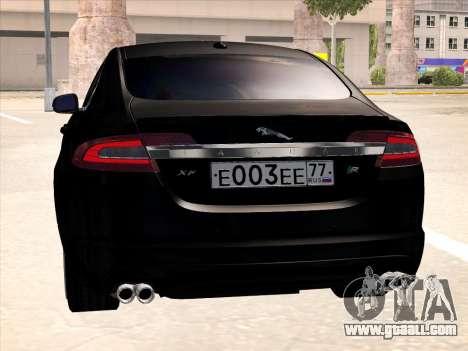 Jaguar XFR for GTA San Andreas back view