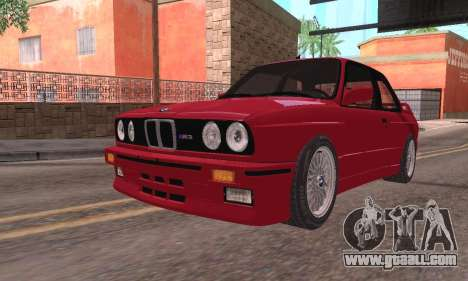 BMW E30 M3 1991 for GTA San Andreas back left view