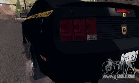Ford Mustang Shelby Terlingua 2008 NFS Edition for GTA San Andreas interior